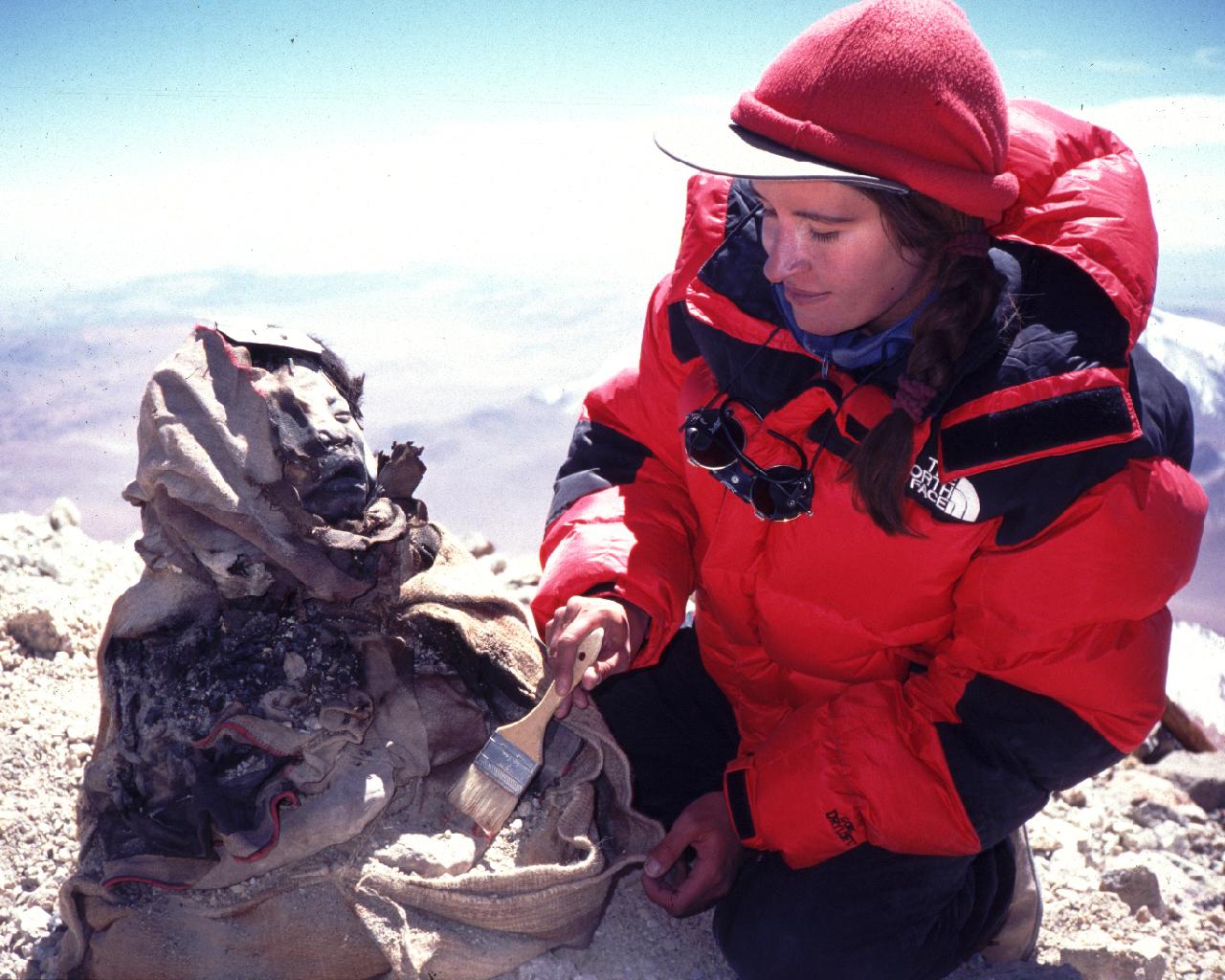 Constanza Ceruti with Inca Mummy